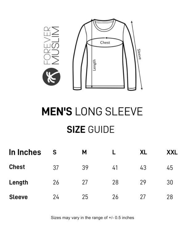 tfm new size chart mens long sleeve